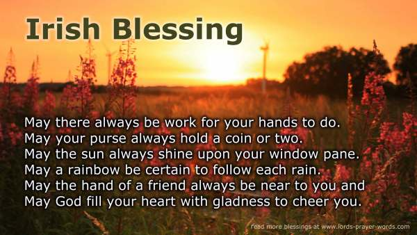 10 prayer sms messages blessings for texting cards to brighten a an old irish blessing m4hsunfo