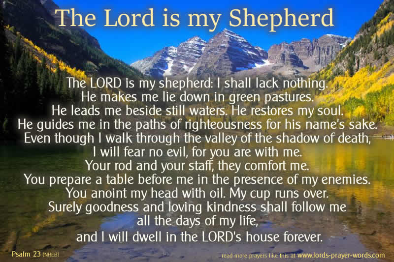 The Lord Is My Shepherd Prayer Psalm 23