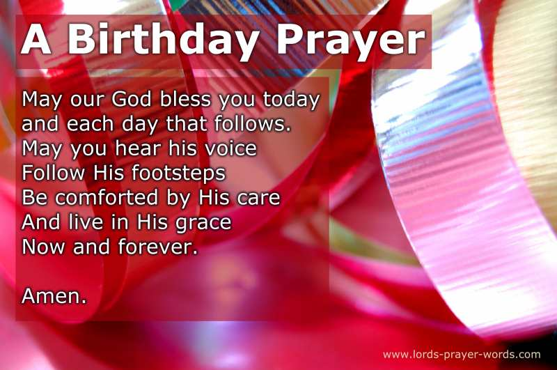 Happy Birthday Prayer Message