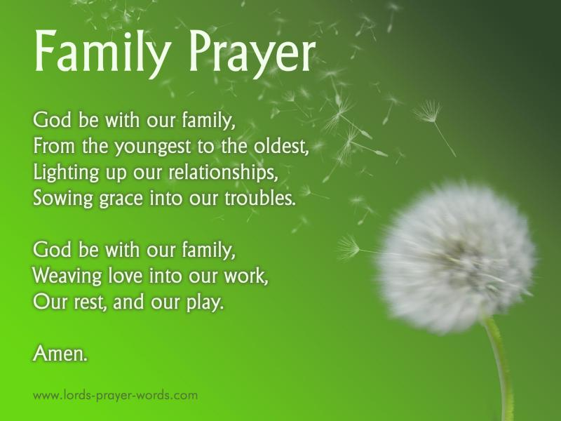 Prayer For My Family For Unity Reunions