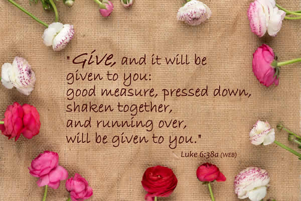 bible verse on giving