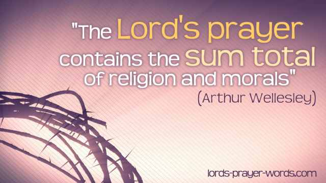 Quote about the Lord's Prayer