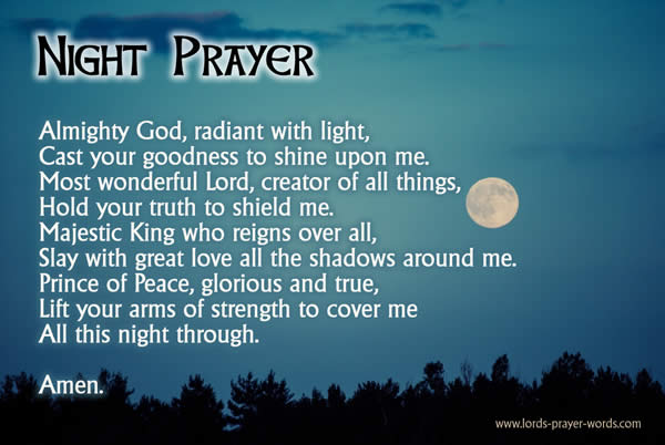 12 Good Night Prayers Before Sleep & Bed