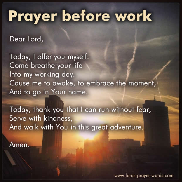 Prayer Before Work & Employment