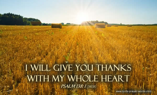 Harvest Thanks Prayer