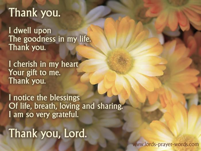thanksgiving prayer of gratitude to God